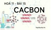 Tính chất hoá học của Cacbon (C), bài tập về cacbon - hoá 11 bài 15